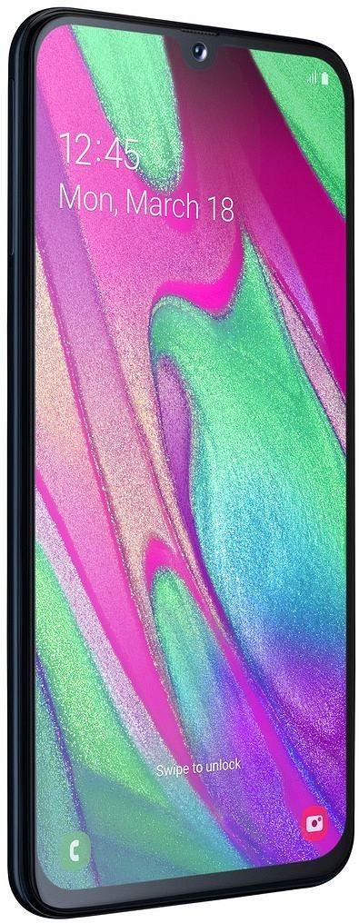 Design telefonu Samsung Galaxy A40