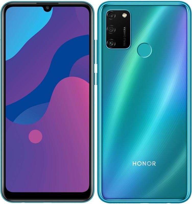 Přední a zadní strana telefonu Honor 9A