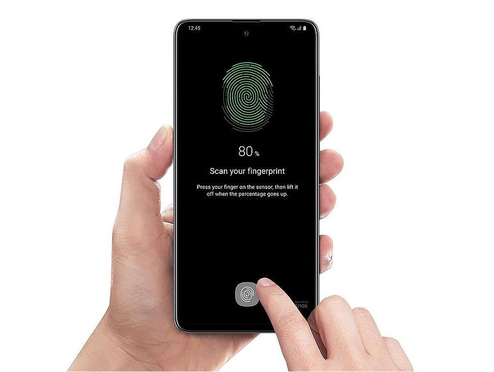 Samsung Galaxy A51 - čtečka otisků prstů