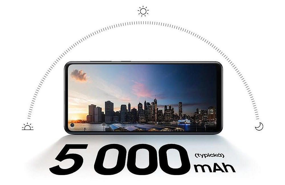 Kapacita baterie telefonu Samsung Galaxy A21s