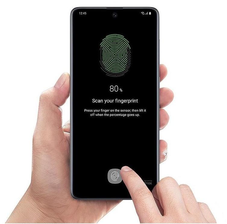 Samsung Galaxy A71 - čtečka otisků prstů